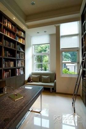 复式书柜现代简约复式别墅设计