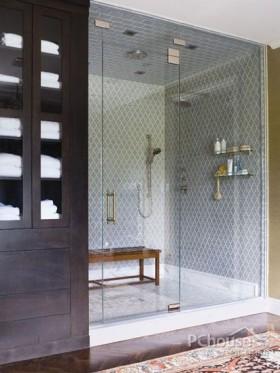 小户型卫浴瓷砖配色案例