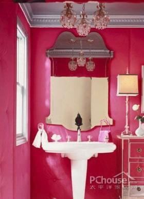 浪漫卫浴间布置方案