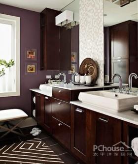 自然原木 舒适实木浴室柜