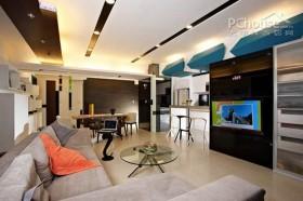 台北摩登单身公寓设计