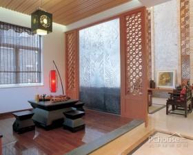 中式屏风隔断别墅设计