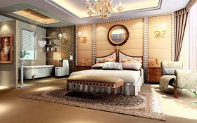 130平西式卧室装修效果图