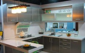 110平米西式厨房装修效果图
