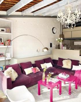 巴塞罗那复古迷人公寓客厅