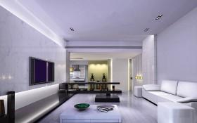 120平现代风格客厅装修设计图片
