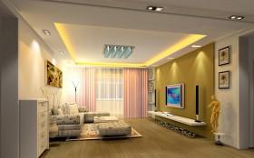 白领公寓客厅装修效果图