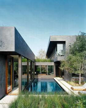 加州超豪华别墅设计 庭院装修效果图