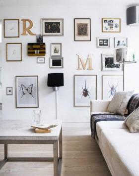 照片墙用字母装点的时尚空间