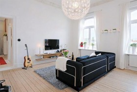 瑞典白领小公寓巧妙布局