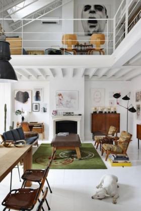 120平复式公寓客厅装修设计效果图