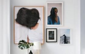 现代与历史结合 Loft复式公寓照片墙