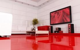 红色装修 典雅白领家居设计