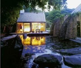 优美的温泉别墅 庭院装修效果图