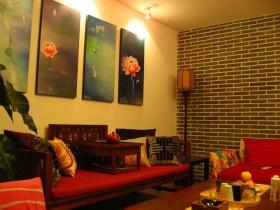 中式混搭110平两居室