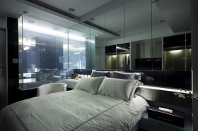 145平现代卧室装修效果图