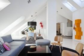 4万打造现代简约风格阁楼客厅装修公司