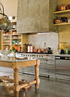 田园风格家居厨房橱柜装修效果图