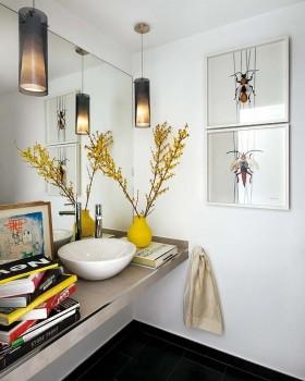 80平小户型现代时尚风格卫生间装修效果图欣赏