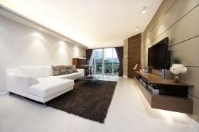 现代二居客厅电视背景墙装修效果图