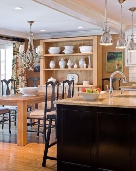 田园风格厨房橱柜装修效果图