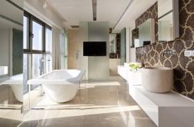 三房两厅两卫简欧风格卫生间浴缸装修效果图大全
