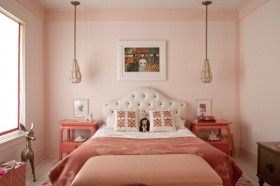 12万打造80平米田园风家居卧室背景墙装修效果图