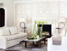 12万打造纯白欧式风格客厅装修效果图大全
