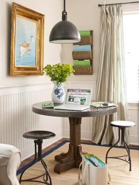 宜家的简单形式的地中海客厅背景墙装修图片
