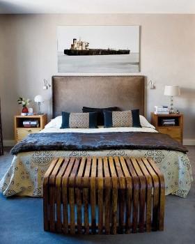 13万打造90平地中海风格卧室装修要点效果图