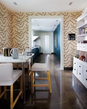 13万打造90平地中海风格装修餐厅要点效果图