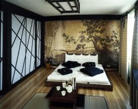 日式风格卧室榻榻米床装修效果图