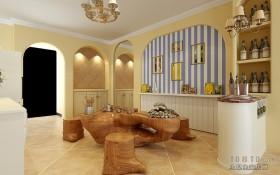 地中海风格室内休闲区装修效果图