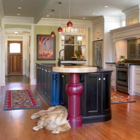 7万打造田园风格开放式厨房装修效果图感受大自然的气息