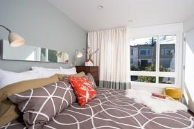 三室两厅卧室装修效果图大全 卧室窗帘图片