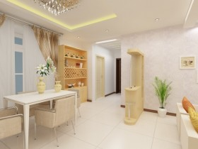 两室一厅餐厅装修效果图 两室一厅装修图