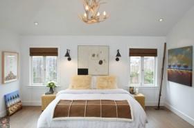 北欧风格卧室装修效果图大全 卧室油画装饰效果图