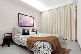 现代简约婚房卧室装修效果图大全 卧室窗帘设计图片