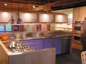 10万打造原木元素田园厨房装修效果图大全