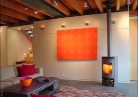 10万打造原木元素田园客厅背景墙装修效果图大全