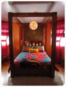 18万打造清新东南亚风格卧室装修效果图大全2012图片