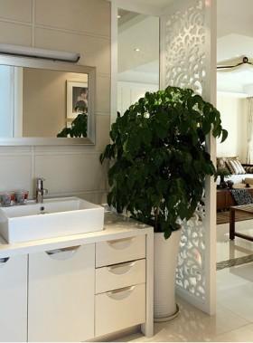 现代风格二居卫生间隔断样板房装修效果图