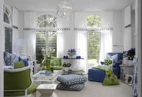 17万打造90平地中海风格客厅飘窗装修图片