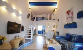 地中海风格客厅电视背景墙装修图片