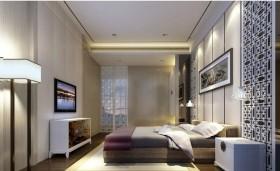 12万打造温馨浪漫现代风格二居卧室电视背景墙装修效果图