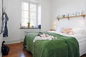 70平米小户型绿色清新的卧室装修效果图大全