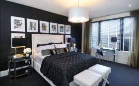 三居室现代暗色调卧室装修效果图大全
