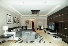两室一厅现代客厅吊顶装修效果图大全