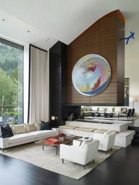 150万打造豪华现代风格客厅背景墙装修效果图大全