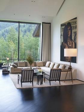 150万打造豪华现代风格客厅飘窗装修效果图大全